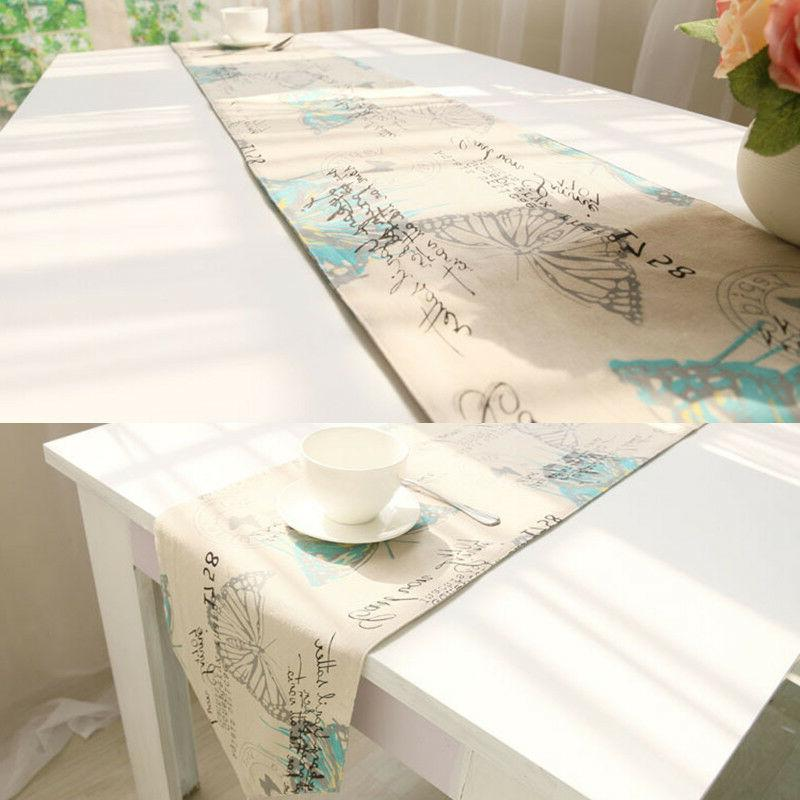 1Pc Cotton Linen Insect Table Cover Tassels