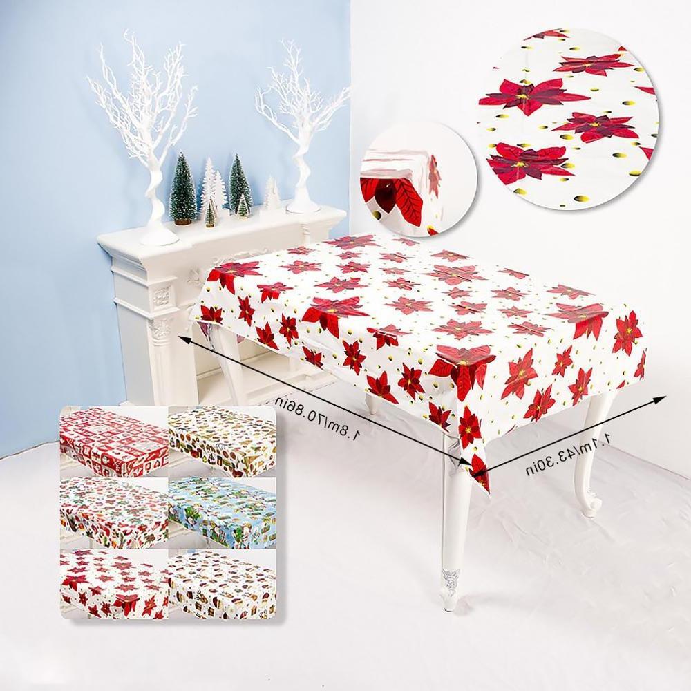 1pcs 110*180cm Christmas cloth Year Printed <font><b>Rectangle</b></font> Tablecloth Christmas