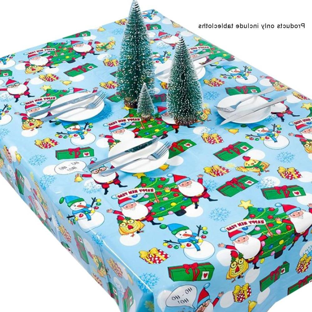 1pcs 110*180cm Christmas Year PVC Tablecloth Decorations