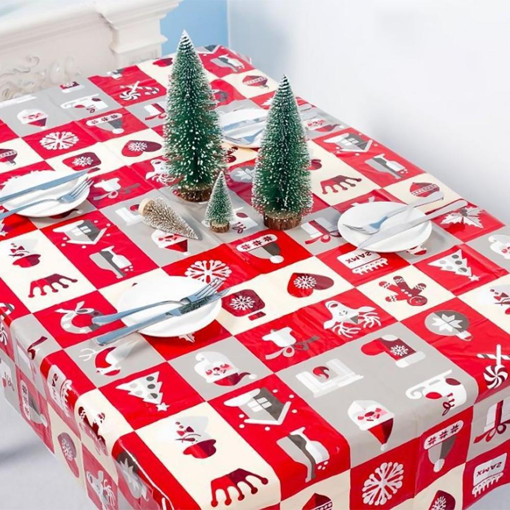 1pcs 110*180cm cloth Dinner Year Printed Tablecloth Christmas <font><b>Cover</b></font> Decorations
