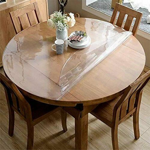 OstepDecor 2.0mm 42 Inches Round Cover, Round Table Protector