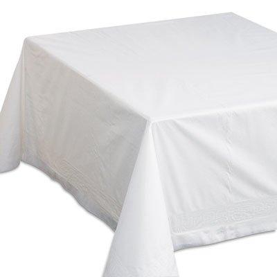 Hoffmaster 210066 Tissue/Poly Tablecovers, 72w x 72d, White