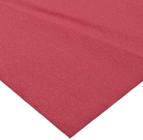 Hoffmaster 220832 Linen-Like Color In Depth Tablecover, Length Burgundy