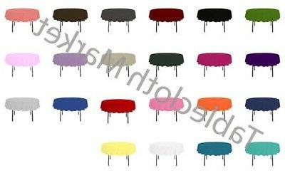 58 inch round polyester tablecloth 24 color