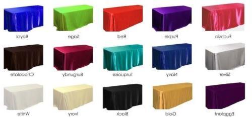 15 pack 60x120 rectangular satin tablecloth wedding