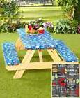3 Pc. Outdoor Picnic Table Covers Choose Americana Stars, Be