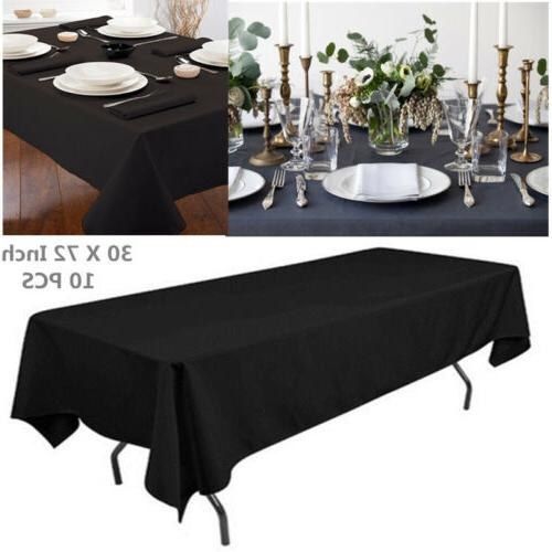"30X72"" Table Cover Rectangular Kitchen Dining Tablecloth Wed"
