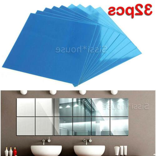 32x mirror tiles self adhesive back square