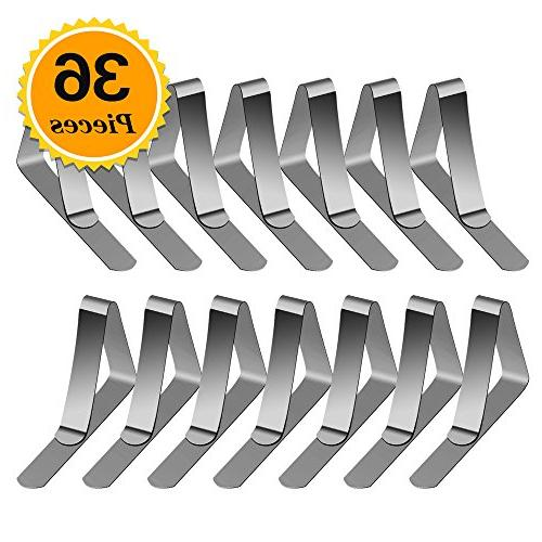 36 packs tablecloth clips stainless