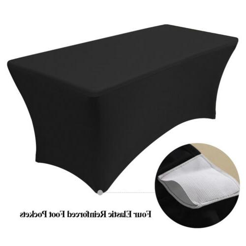4/6/8ft Spandex Tablecloth Table Wedding