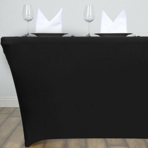 4/6/8ft Stretch Spandex Tablecloth Wedding Party Banquet