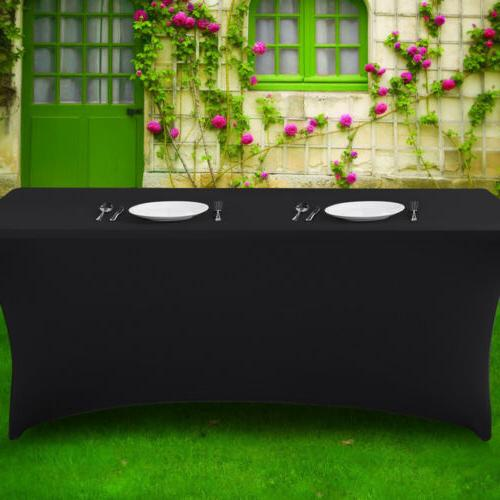 4/6/8ft Spandex Tablecloth Wedding Party Banquet