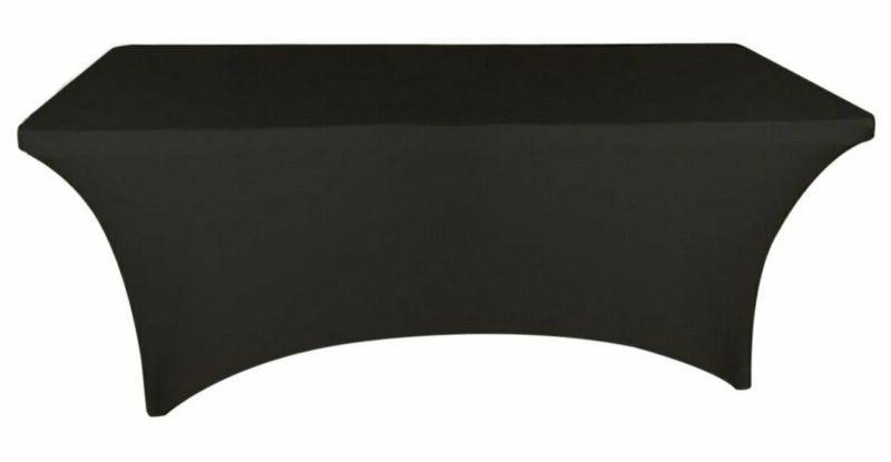 4 Ft Black Dj Table Cover Stretch Scrim Spandex Type Table S