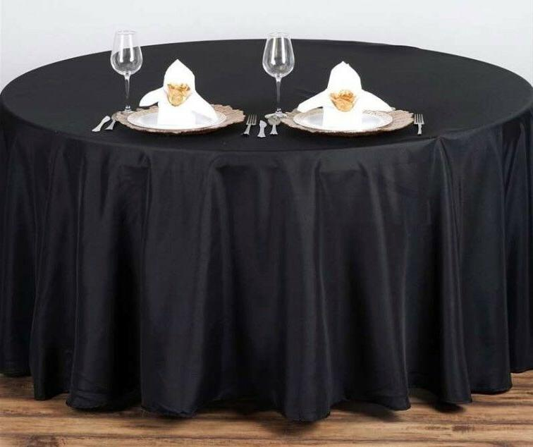 4 pcs 90 round heavy polyester tablecloth