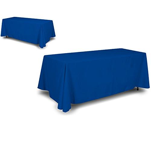 4 sided back blue tablecloth