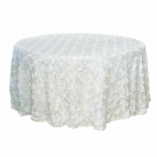 47/120'' Fabric Tablecloth Round Table Cover Banquet
