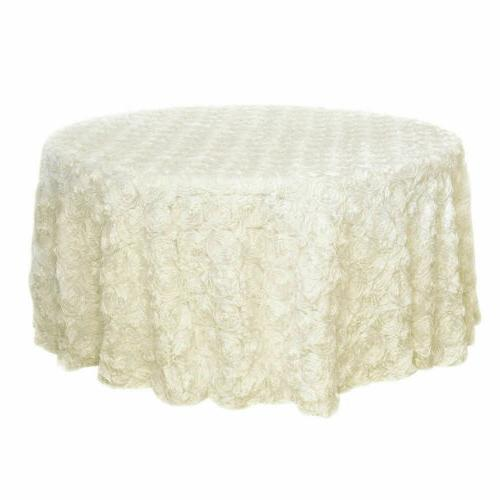 47/120'' Fabric Tablecloth Round Table