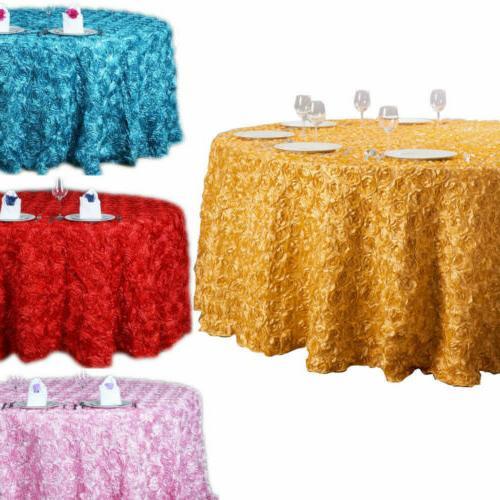 47 120 3d rosette satin fabric tablecloth