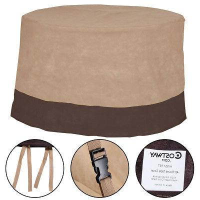 """48"""" Large Waterproof Outdoor Patio Round Table Cover Furnitu"""