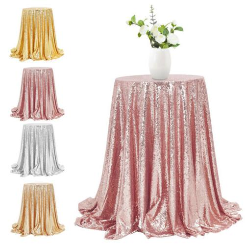 48 round glitter sequin tablecloth table cover