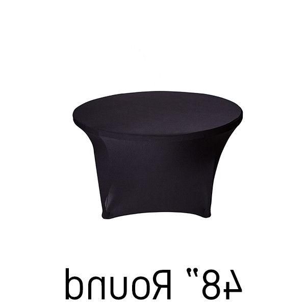 48 round spandex table cover choice of