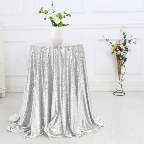 """48"""" Table Cover Bling Tablecloth"""