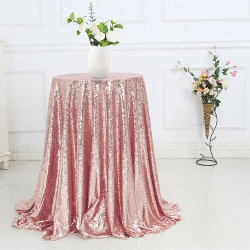 """48"""" Sparkly Table Cloth Table Cover Bling"""