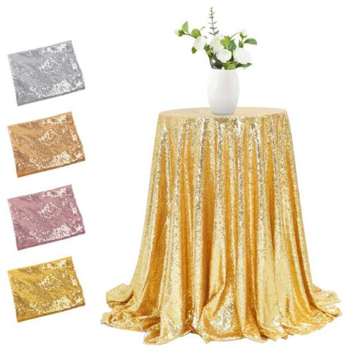 48 sparkly sequin tablecloth round glitter table