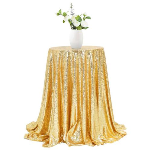 "48"" Sequin Round Table Wedding Banquet Decor"