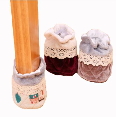 4Pcs Furniture Table Chair Foot Leg Knit Socks Cover Pads Fl