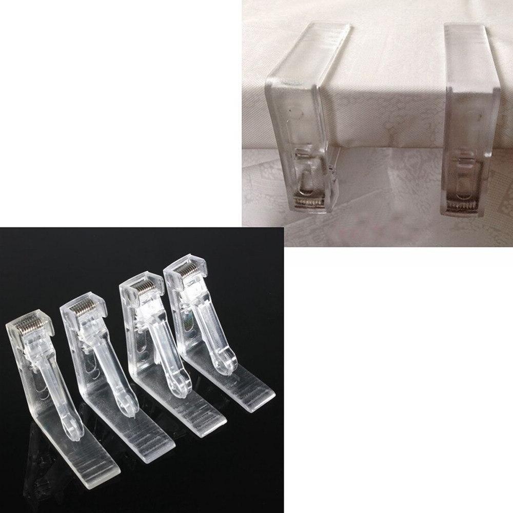 4Pcs/set <font><b>Clear</b></font> Plastic <font><b>Cover</b></font> Cloth Clamp Wedding