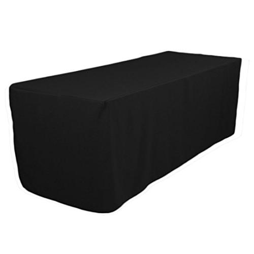 5 Feet Black Tablecloth Fitted Polyester Table Cover Wedding