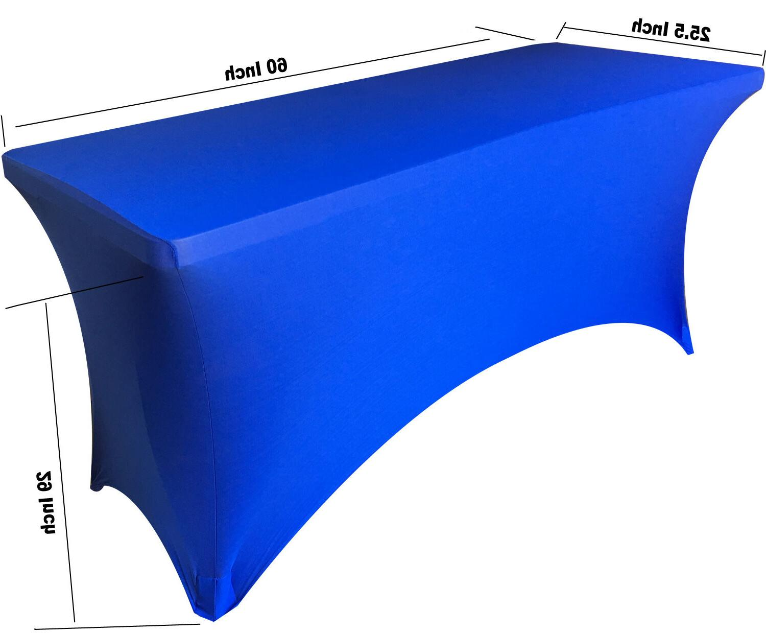 5 ft SPANDEX Fitted Tablecloth Stretch Table Cover ROYAL BLU