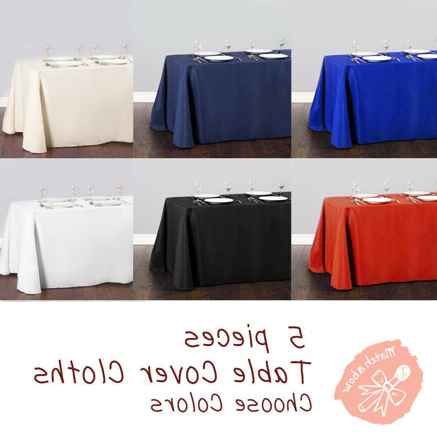 5 pc rectangle tablecloth table cover party