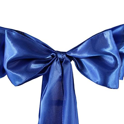 BalsaCircle Satin Chair Ties for Party Ceremony Reception Event Supplies