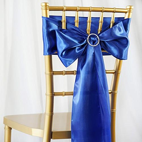 50 royal blue satin chair