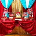 """50""""x80""""Rectangle Sparkly Red Tablecloth Gliter Red Table Clo"""