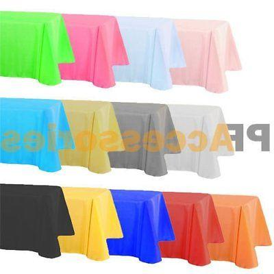 54 x 108 tablecloth rectangle plastic banquet