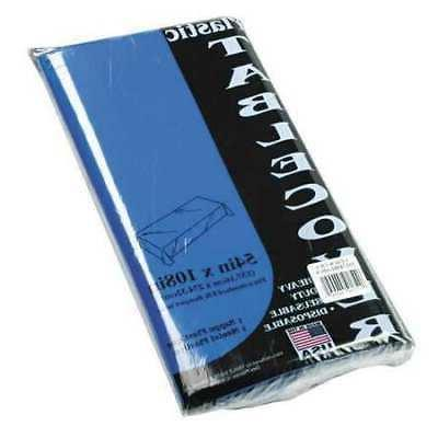 TABLEMATE 549BL Rectangular Table Cover,54x108,Blue,PK6 G614