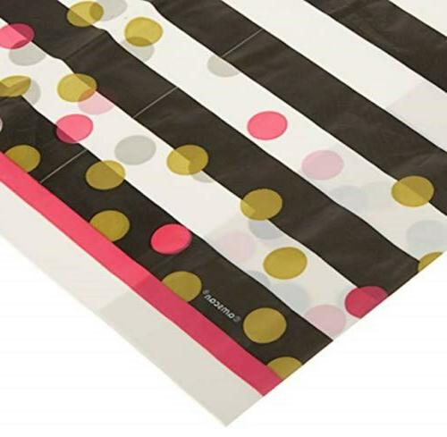 Amscan 571757 Party Supplies Pink & Gold Confetti Plastic Re