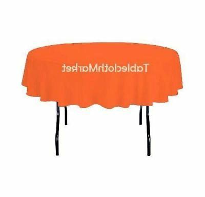 """58"""" Inch round Polyester Tablecloth 24 Cover Catering"""
