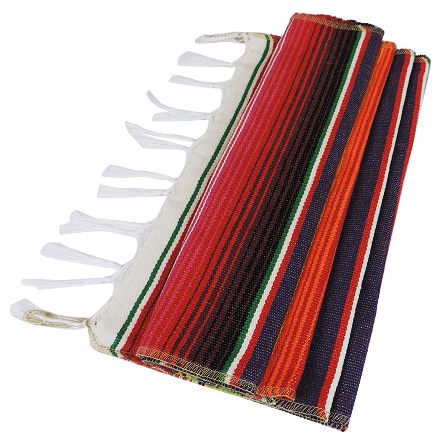 5pcs Mexican Serape Runner Party Fringe USA