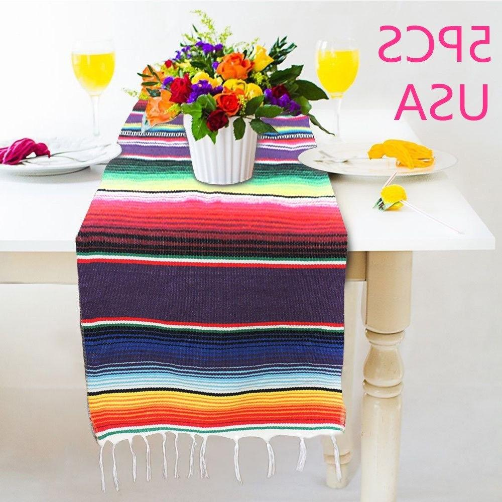 5pcs mexican serape table runner festival party