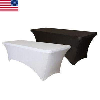 6 8 ft fitted polyester tablecloth table