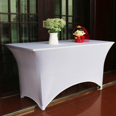 6 8 Fitted Table Cover BL/W