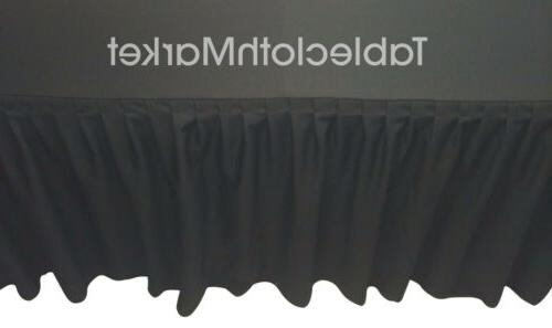 4 ft fitted table skirting cover w