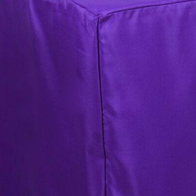 6 ft PURPLE POLYESTER Party Tradeshow