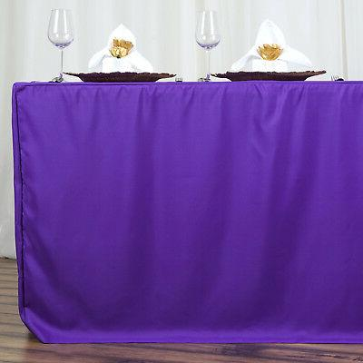 6 PURPLE POLYESTER TABLE Party Tablecloth