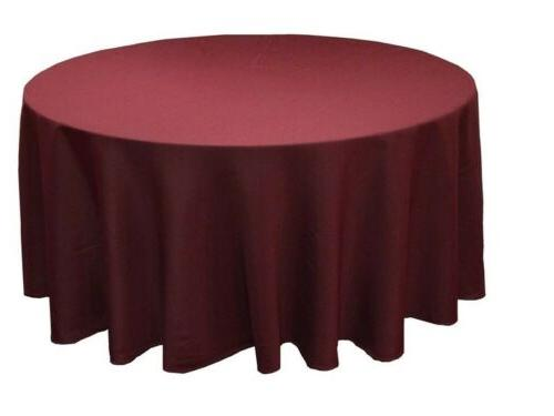 6 pack 132 inch round polyester tablecloth
