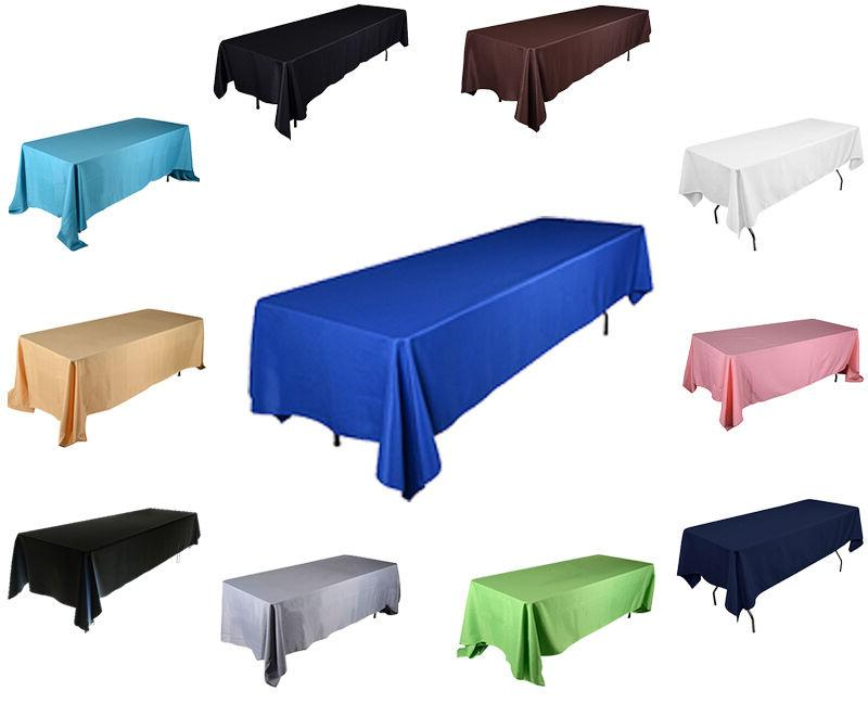 60 inch x 126 rectangular polyester tablecloth